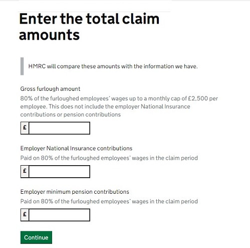 Job Retention Scheme Portal Step 12