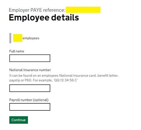 Job Retention Scheme Portal Step 14