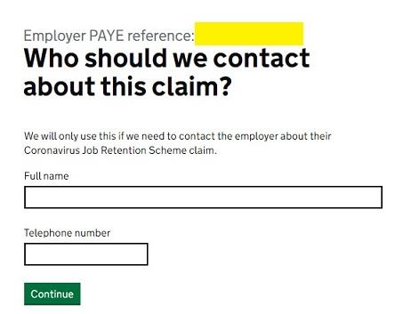 Job Retention Scheme Portal Step 18