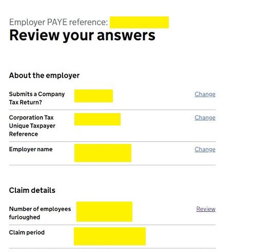 Job Retention Scheme Portal Step 19