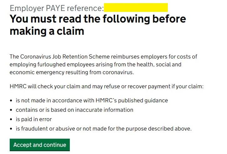 Job Retention Scheme Portal Step 3