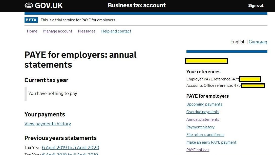Portal to claim Job Retention Scheme